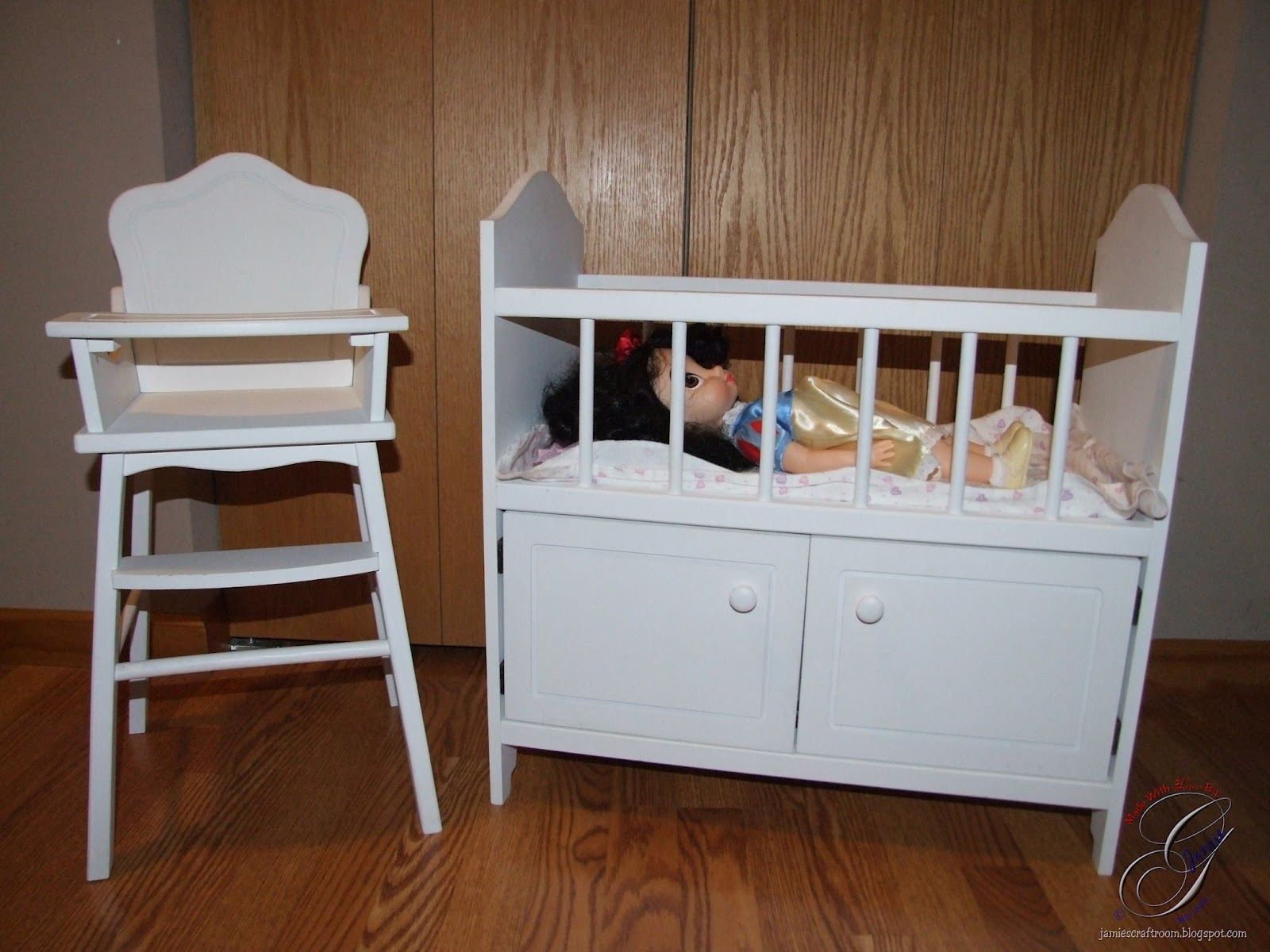 jamie s craft room doll high chair and crib