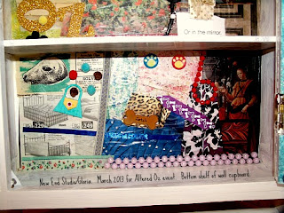 close up bottom shelf 2013 altered oz New End Studio