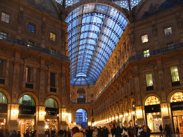 The Gallerie Vittorio Emanuele II or Victor Emmanuel Galleria in Milan opened in 1867 and has been home to Prada since 1913. Photo: WikiMedia.org.