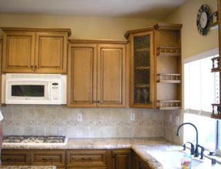 light brown kitchen cabinets image