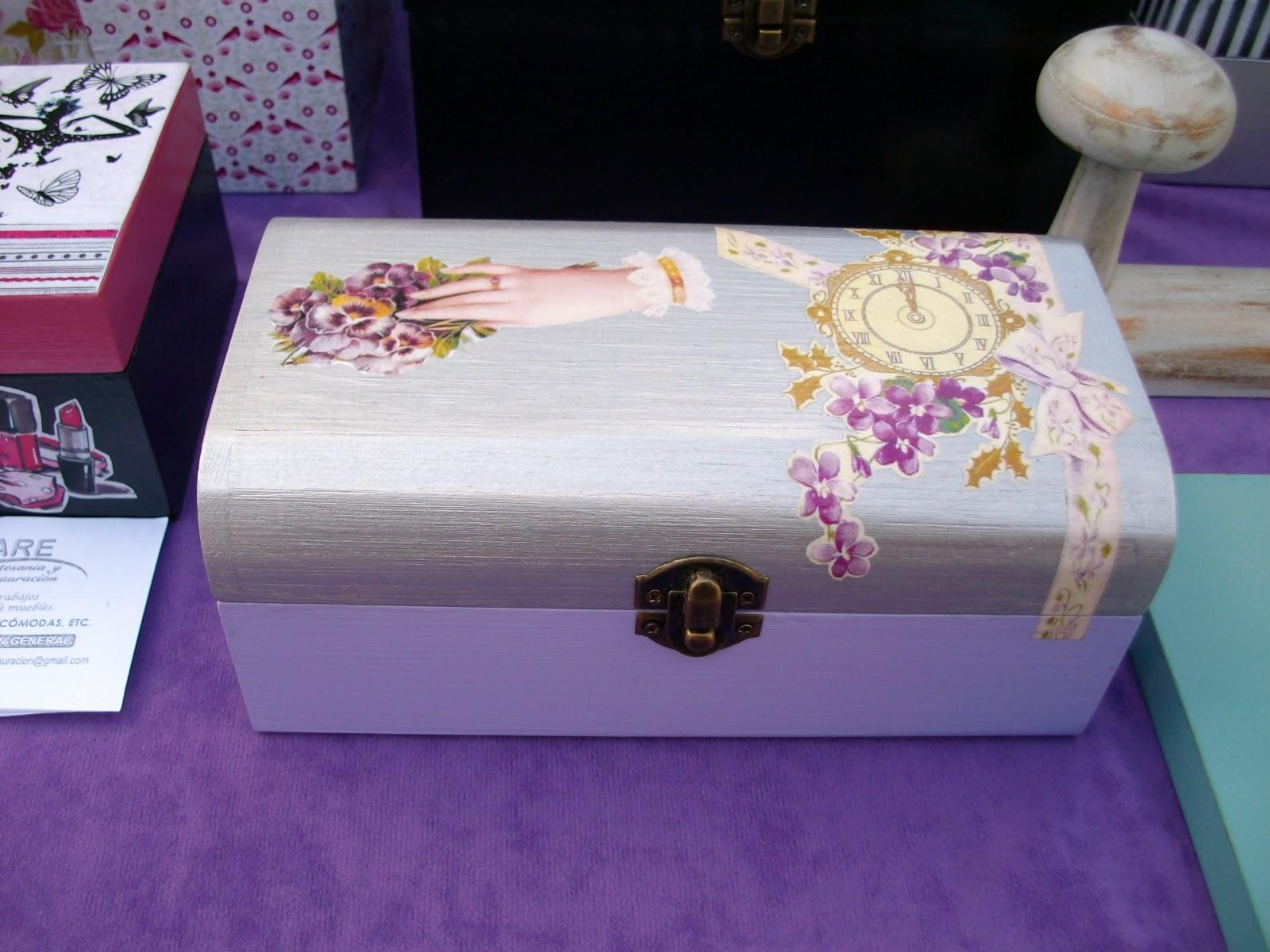 cajas de madera decoradas con tecnica decoupage