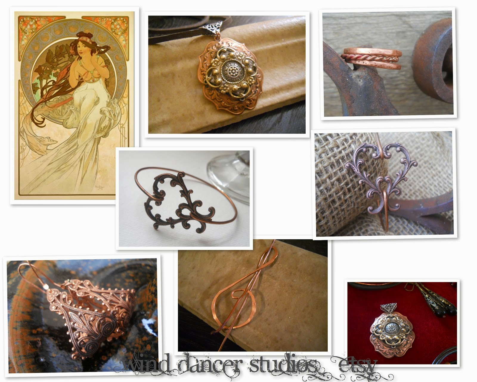 mucha's musings: the Arts Collection: Music, hand crafted jewelry by Wind Dancer Studios on Etsy