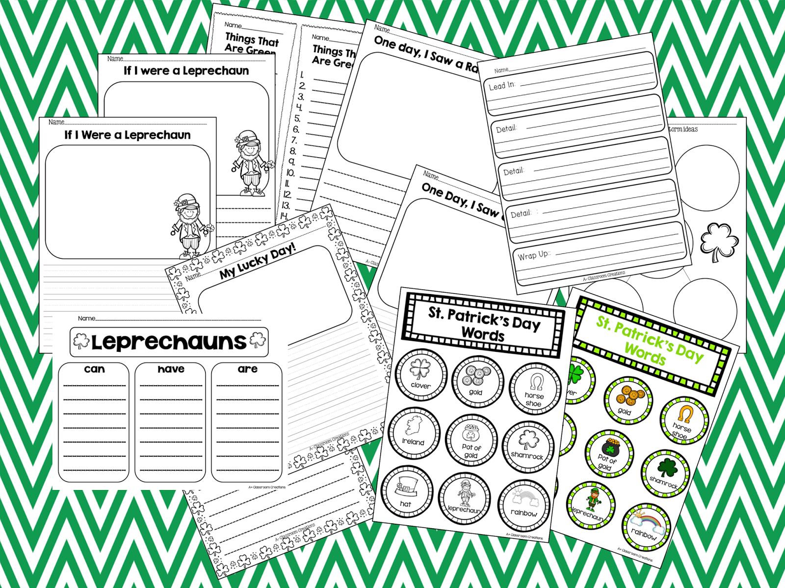 http://www.teacherspayteachers.com/Product/St-Patricks-Day-Pack-1083896