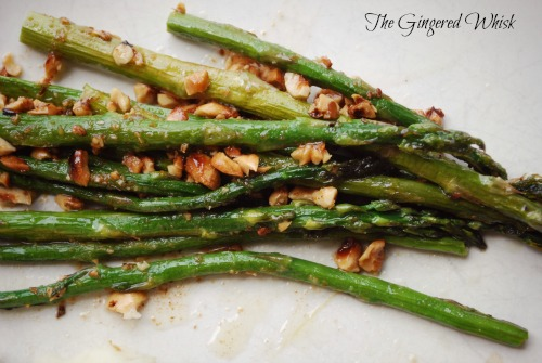 Roasted Asparagus with Brown Butter and Hazelnuts is perfect for Easter!