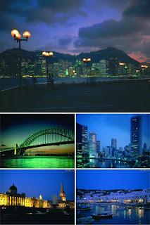 Ночные города в обоях для рабочего стола