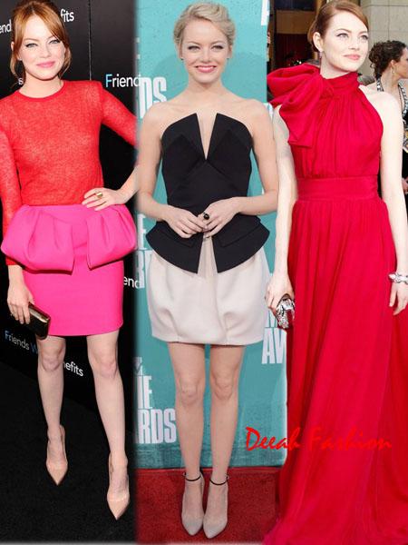 Emma Stone in Red Merah Menyala