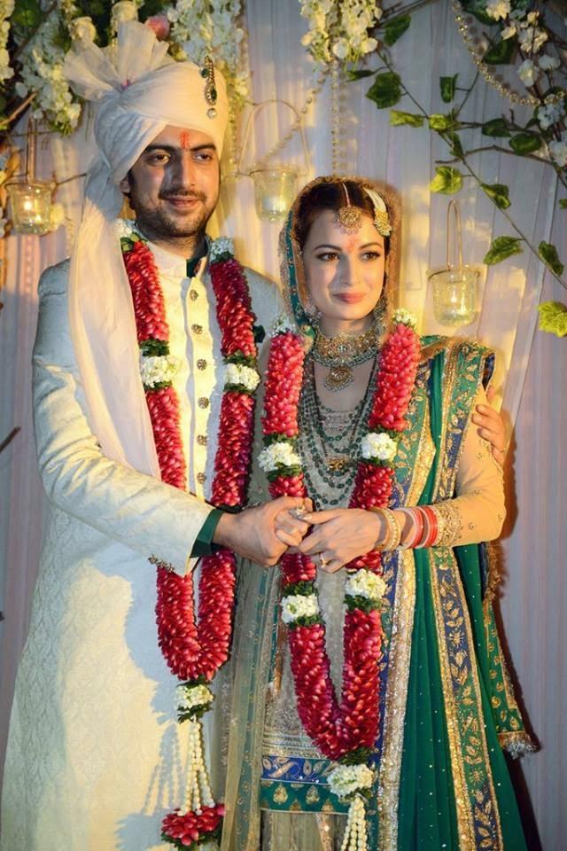 Dia Mirza and Sahil Sangha Wedding marriage album photo gallery
