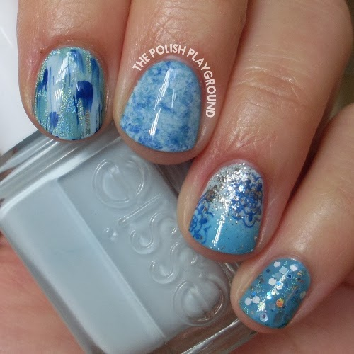 Snow Inspired Nail Art