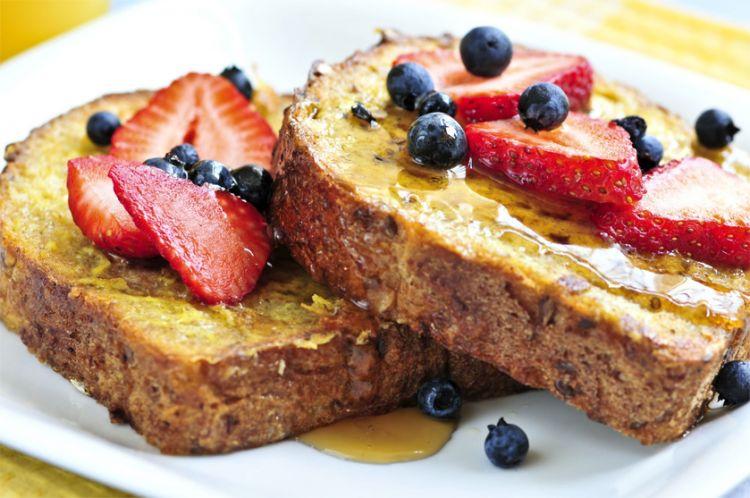 Roti Madu dengan keju Berry