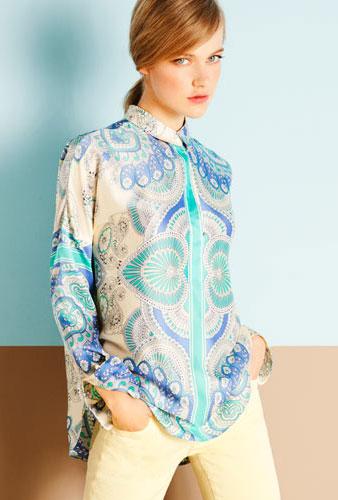 camisas mujer Massimo Dutti primavera verano 2012
