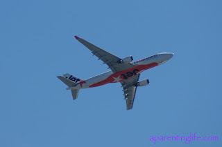 Plane flying Jetstar