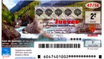 Lotería Nacional del jueves 12 de junio de 2014