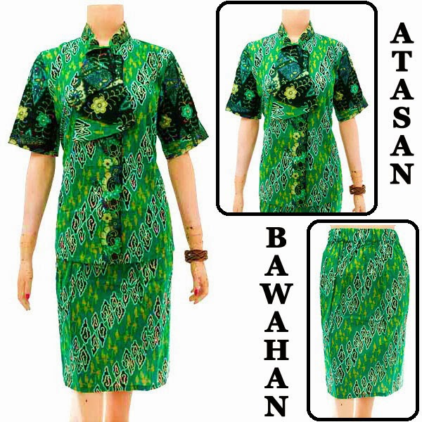 DB3758 Model Baju Dress Batik Modern Terbaru 2014