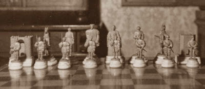 Primer juego de ajedrez, Carlos I de España y V de Alemania con todo su ejército e infantería