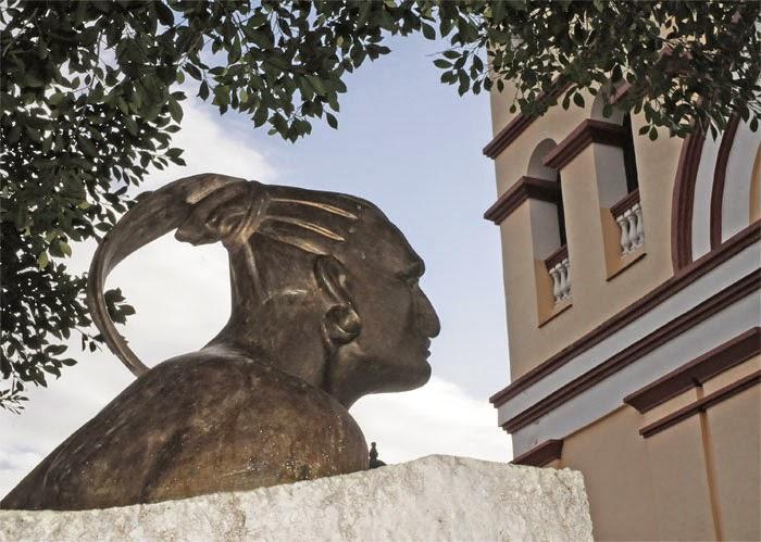 Busto del indio Hatuey, en Baracoa, Guantánamo