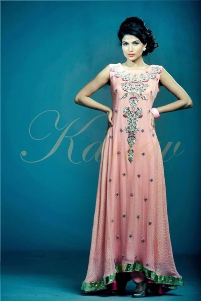 Pakistani Fashion Designer Clothes 2015 Kanav Pakistani Party Wear