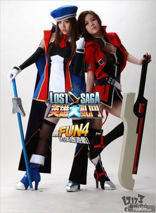 Cosplay Jin Kisaragi & Ragna (Lost Saga)