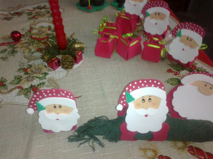 Papai Noel/Mamãe Noel/ Porta Guardanapo e Porta bombonieri