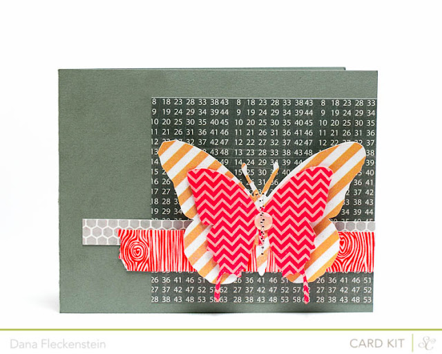 Handmade all occasion butterfly card using the Studio Calico Block Party Kit by pixnglue