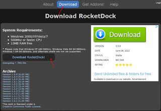 бесплатно скачать RocketDock для Windows