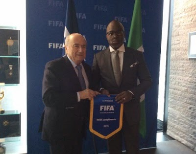 Amaju Pinnick and Sepp Blatter