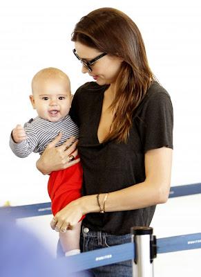 Cute baby Flynn with Miranda May Kerr