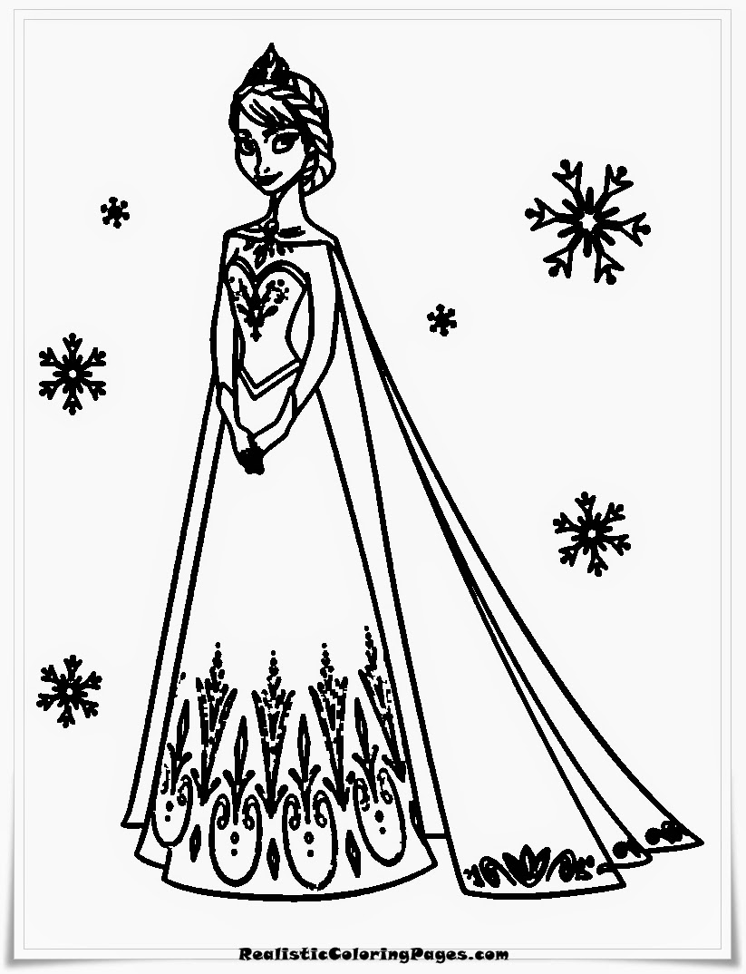 Wonderful Frozen Coloring Pages