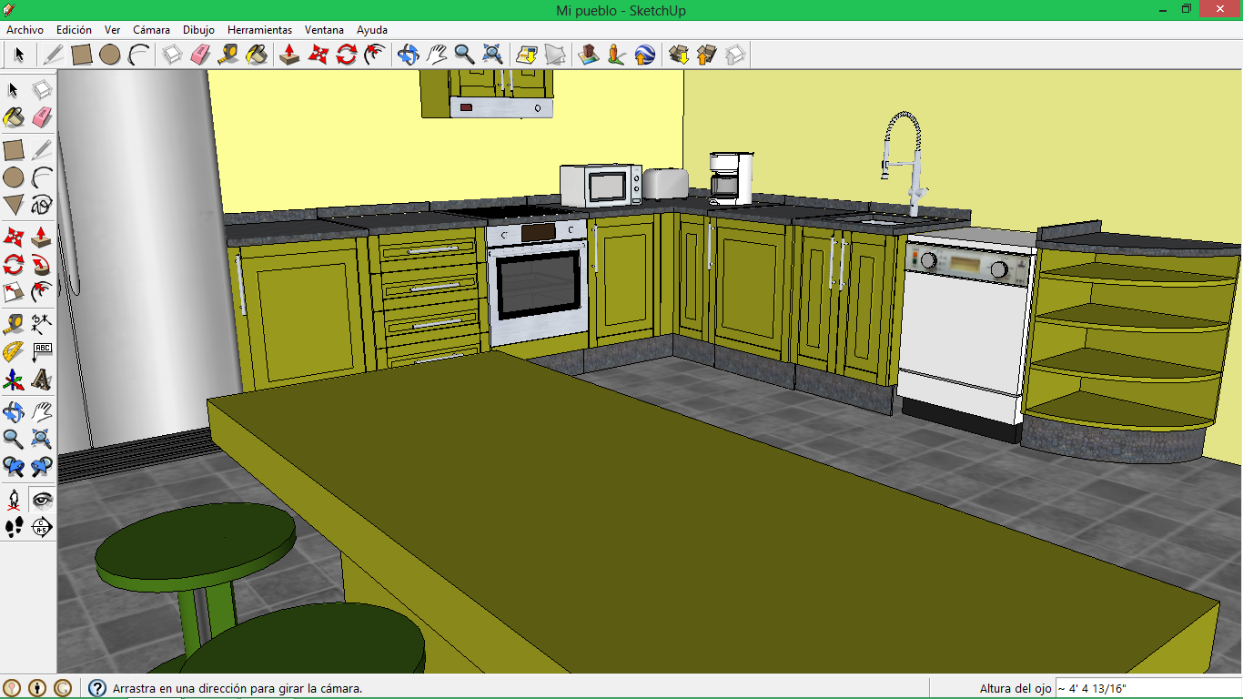 Lucksthebest sketchup dise ando mi propia casa for Disenar mi propia cocina