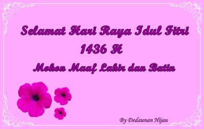 Ucapan Idul Fitri 1436 H