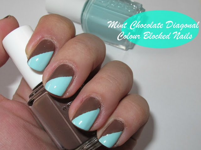 essie mint candy apple hot cocoa easy nail art