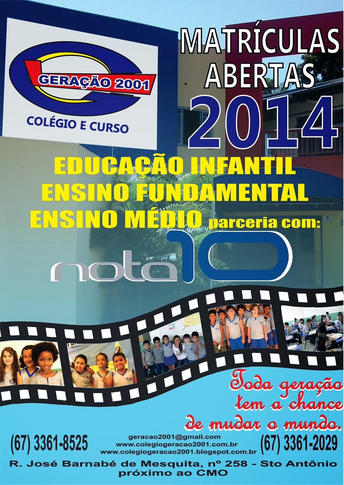 Matriculas Abertas 2014