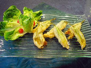 tempura de fleurs de courges