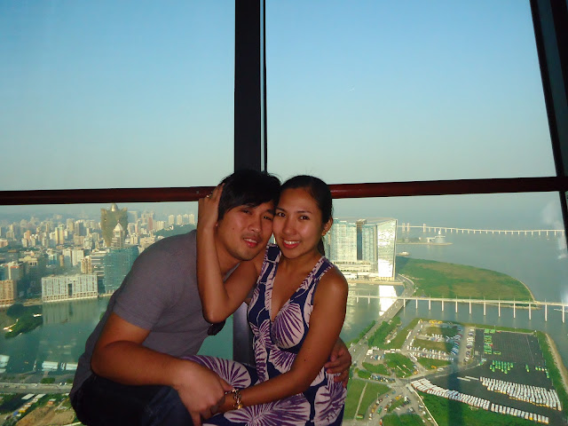Ed and Lady at Macau Tower