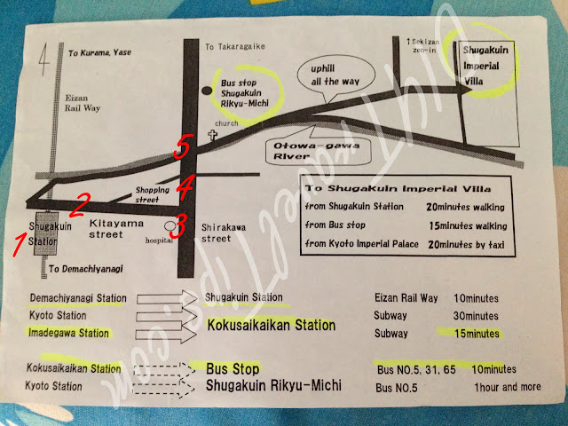 Map to Shugakuin Villa