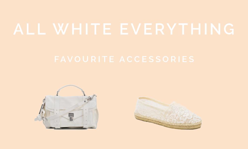 Shopping: All white errthang - Weiße Accessoires für den Sommer