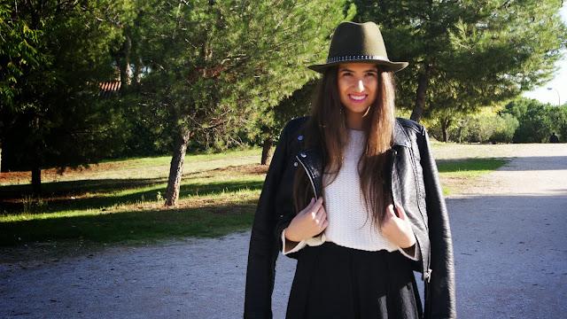 conjunto falda cazadora perfecto sombrero zara