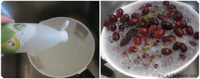cuci buah-buahan dan sayuran