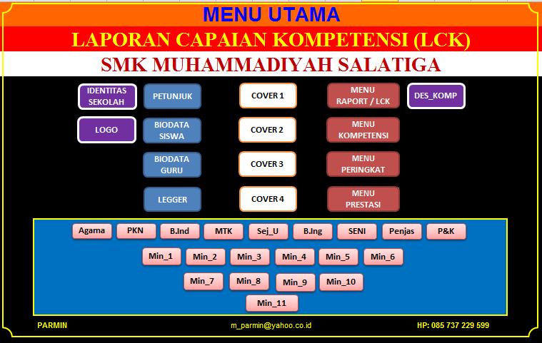 APLIKASI RAPORT KURIKULUM 2013 Tingkat SMA