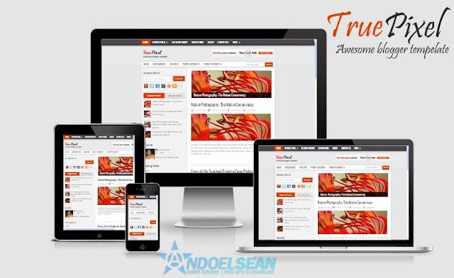 True pixel responsive blogger tempelate