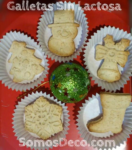galletas navidad sin leche