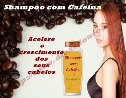Shampoo com cafeína para acelerar o crescimento dos cabelos
