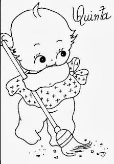 desenho semaninha do bebe para pintar quinta feira