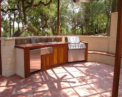 Interior design simple outdoor kitchen design for Simple outdoor kitchen designs