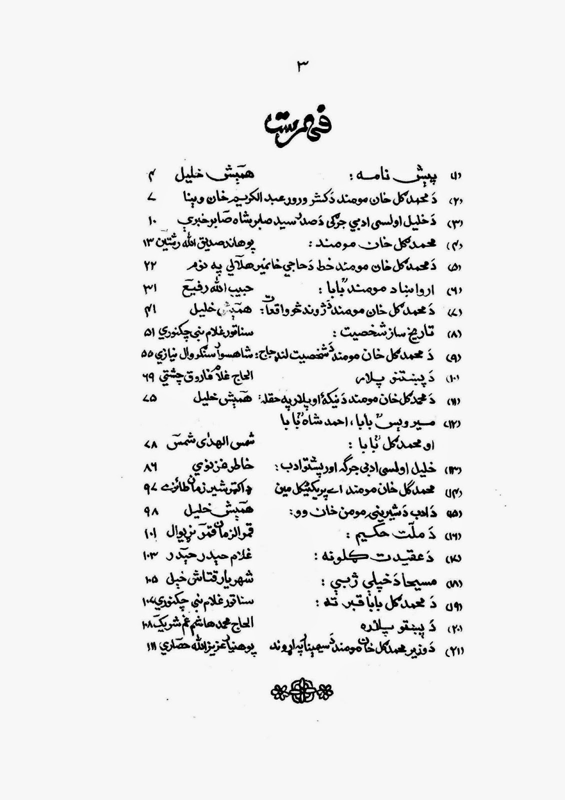 Muhammad Gul Khan Momand By Hamesh Khalil in Pashto