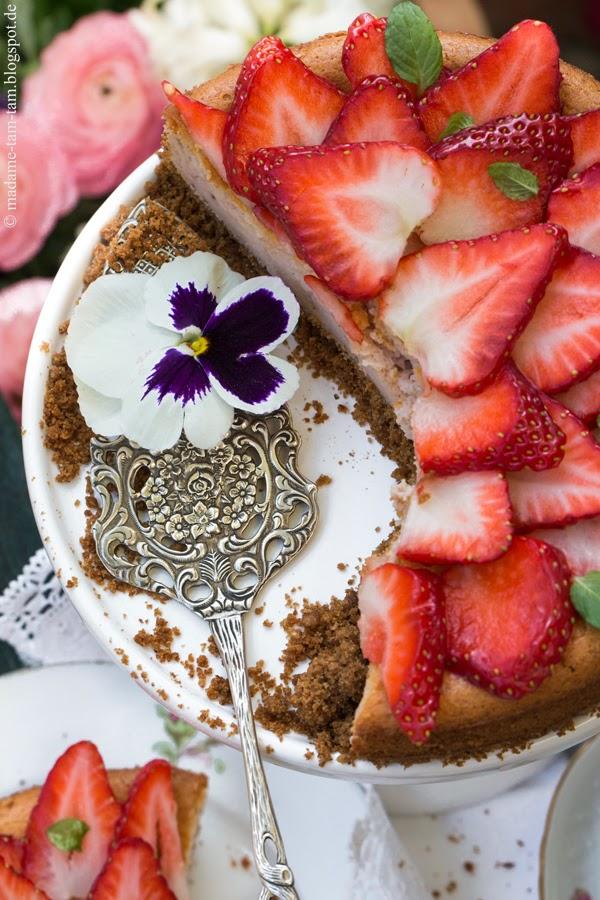 #Erdbeer-Käsekuchen, #madametamtam