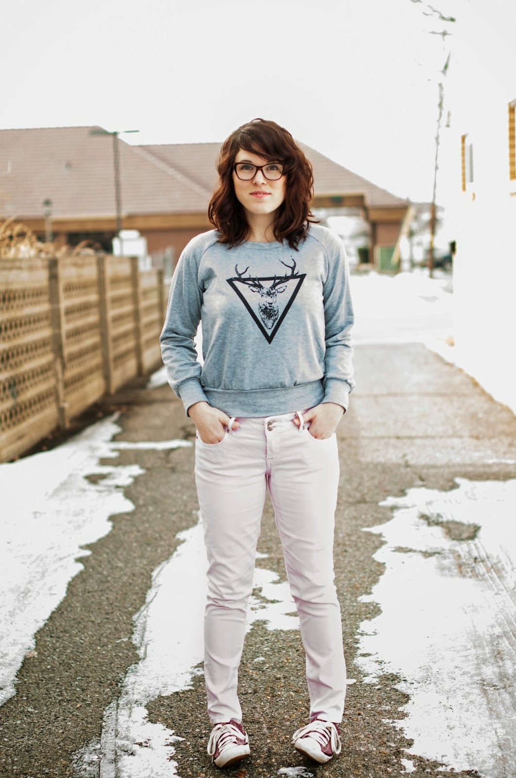 brickyard buffalo sweater & pink jeans
