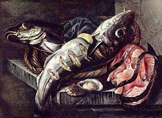 Stilleven met vissen - a famous painting by Abraham van Beijeren