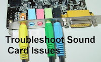How to troubleshoot sound card issues