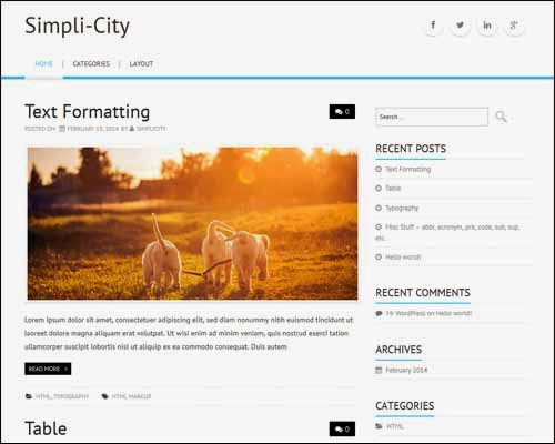Simpli-City Free WordPress Theme