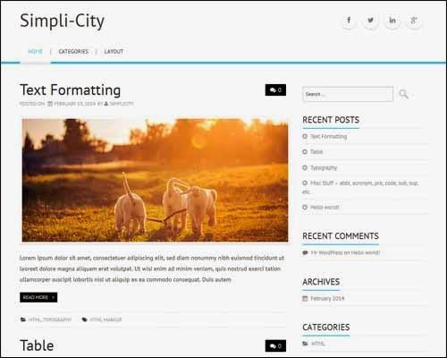 Simpli-City Free WordPress Theme